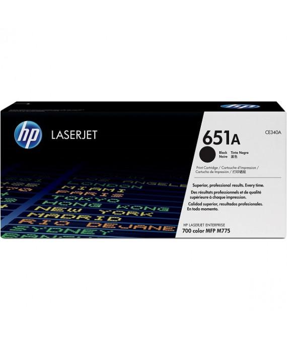 HP 651A Black Original LaserJet Toner Cartridge(CE340A)