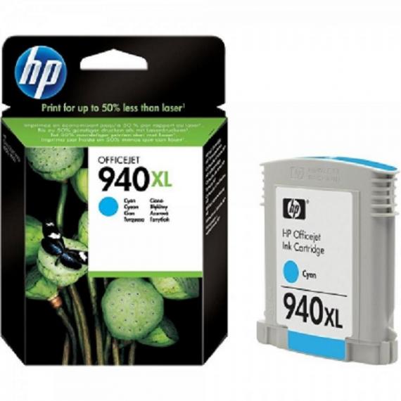 HP 940XL High Yield Cyan Ink Cartridge (C4907AE)