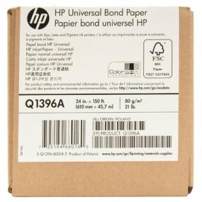 HP Universal Bond Paper-610 mm x 45.7 m (24 in x 150 ft)-Q1396A
